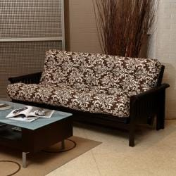 Brown Damask Full-Size 6-inch Futon Mattress