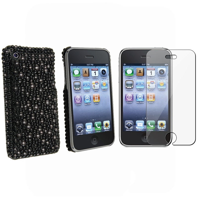 INSTEN 2-piece Phone Case Cover/ Screen Protector Set for Apple iPhone 3G/ 3GS