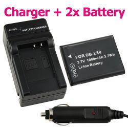 BasAccBattery/ Charger for Pentax D-Li88/ Optio H90/ P70/ P80/ W90