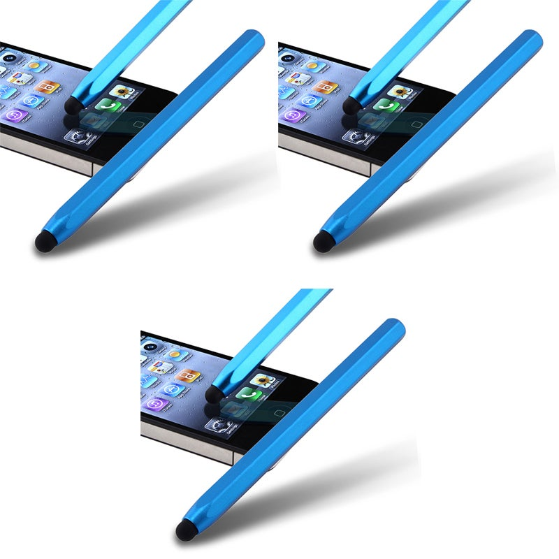 Blue Metal Stylus for Apple iPhone/ iPod/ iPad (Pack of 3)