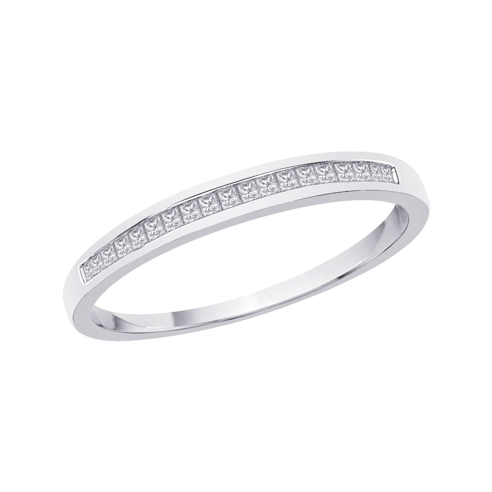 10k White Gold 1/5ct TDW Diamond Wedding Band (G-H, I3)