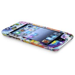 Rainbow Flower/ Circle Snap-on Case for Apple iPod Touch Generation 4