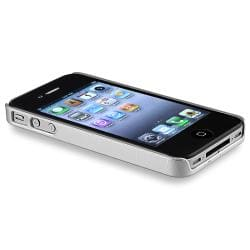 Silver Swirl Case/ LCD Protector/ Headset Wrap for Apple iPhone 4S