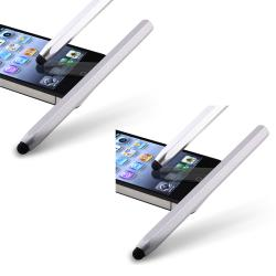 Silver Metal Stylus for Apple iPhone/ iPod/ iPad (Pack of 2)