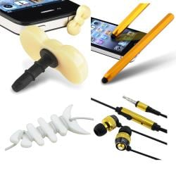 BasAcc Stylus/ Dust Cap/ Headset/ Wrap for Apple iPhone/ iPod/ iPad