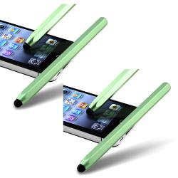 Green Metal Stylus for Apple iPhone/ iPod/ iPad (Pack of 2)