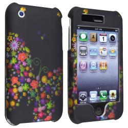 Black Rainbow Garden Snap-on Case for Apple iPhone 3G/ 3GS