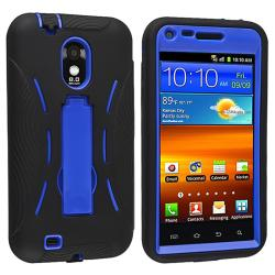 Blue/ Black Hybrid Case with Stand for Samsung Epic 4G Touch D710