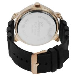 Geneva Platinum Men's Contemporary Silicone Watch