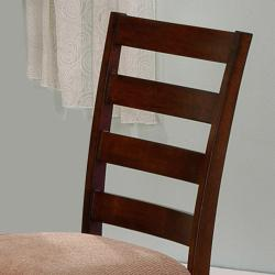 Bewdley Walnut Ladder Back Cushioned Dining Chair (Set of 2)