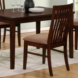 Bewdley Walnut Slat Back Cushioned Casual 5-piece Dining Set