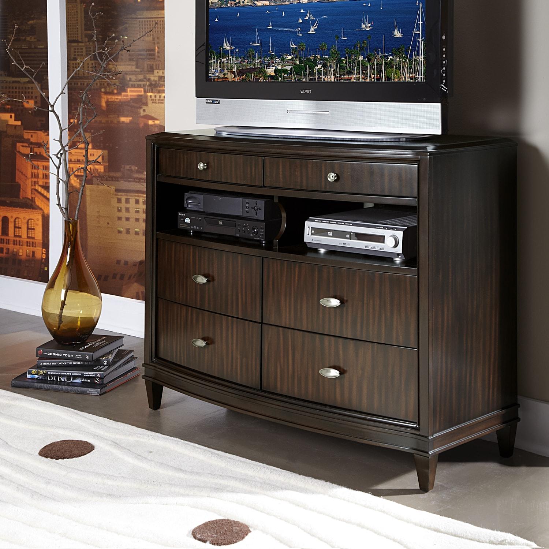 Cumbria Asian Wood Six-drawer TV Chest