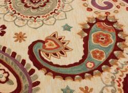 nuLOOM Handmade Paisley Natural Rug (7'6 x 9'6)