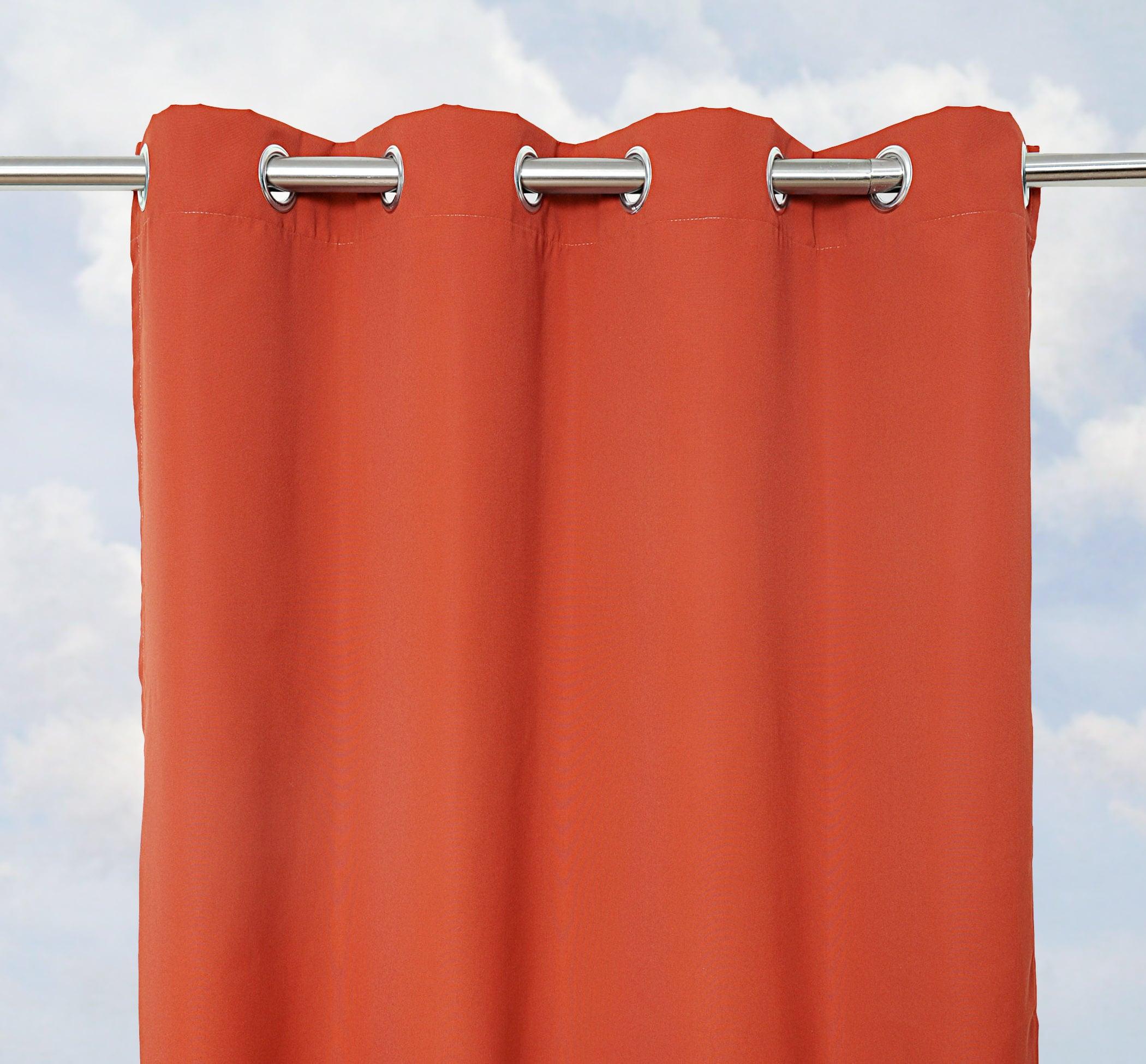 Sunbrella Bay View Terracotta 96-inch Outdoor Curtain Panel - 14284459 ...