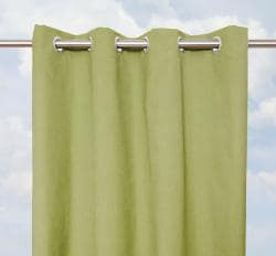 Sunbrella Bay View Cilantro 96-inch Outdoor Curtain Panel
