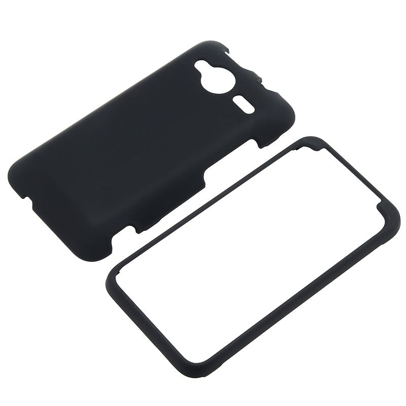 BasAcc Black Snap-on Rubber Coated Case for HTC EVO Shift 4G