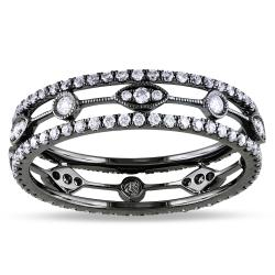 Miadora  18k White Gold 2/3ct TDW Diamond Eternity Ring (G-H, SI1-SI2) (Size 7)
