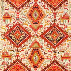 Persian Hand-knotted Tribal Soumak Ivory/ Red Wool/ Silk Rug (6'9 x 9'3)