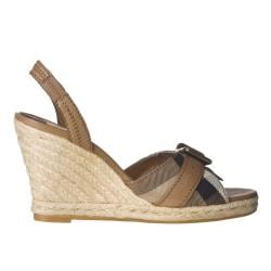 Burberry Women's Check Trim Espadrille Wedges
