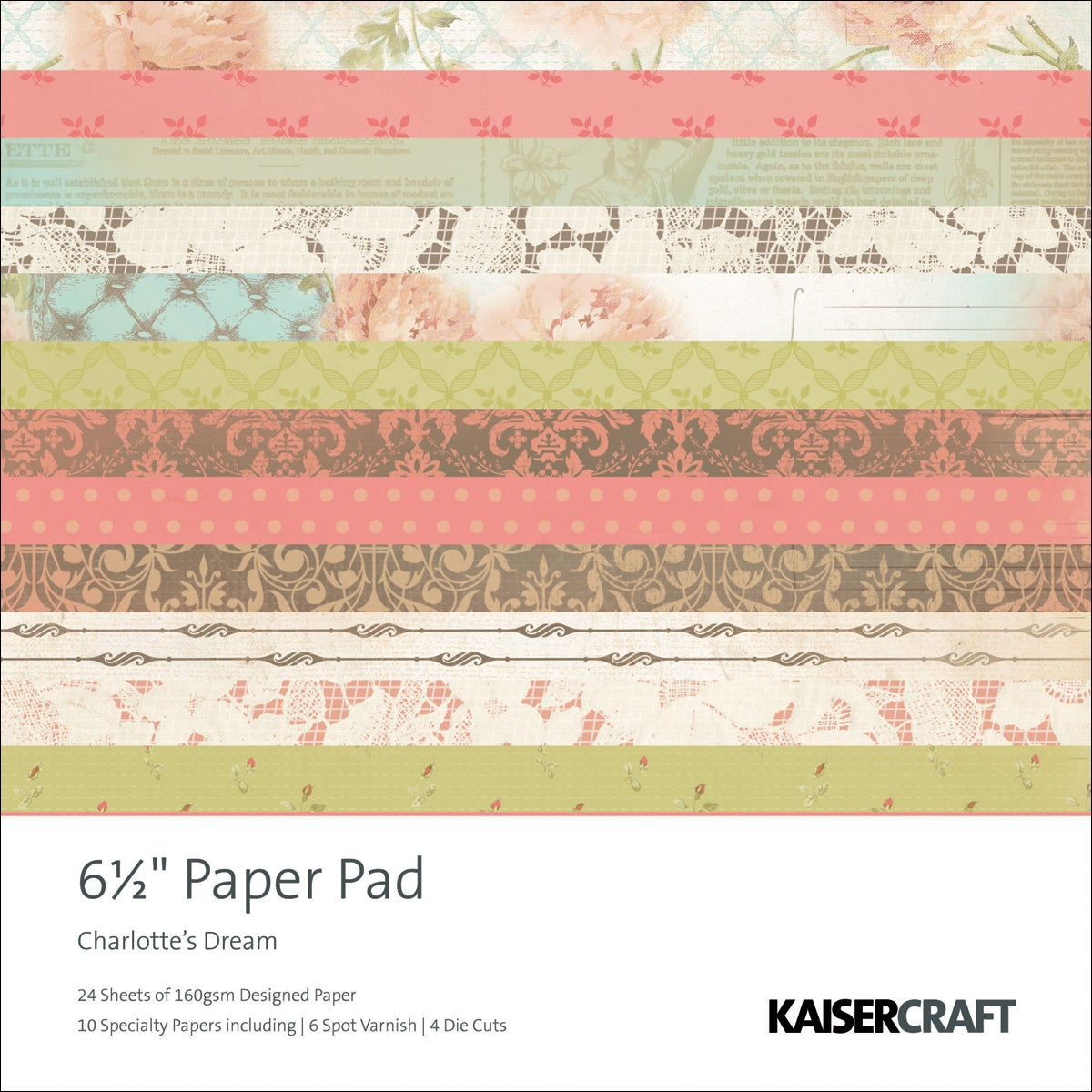 "Charlotte's Dream Paper Pad 6.5""X6.5""-40 Sheets"