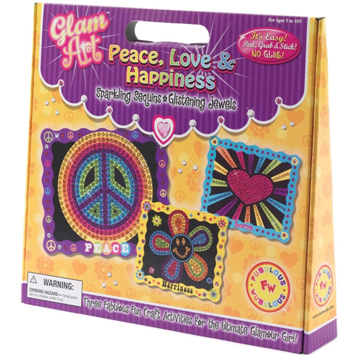 Do-A-Dot Glam Art Kit-Peace Love & Happiness
