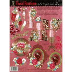 3-D Papier Tole Foil Die-Cuts-Floral Boutique