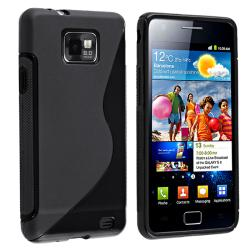 BasAcc Black TPU Rubber Skin Case for Samsung Galaxy S II i9100