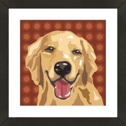 Framed Golden Retriever Giclee Print Photo