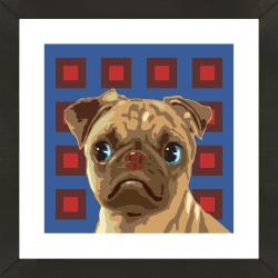 Framed Bull Dog Puppy Giclee Print Photo