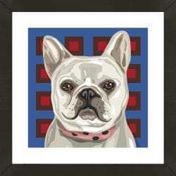 Framed French Bulldog Giclee Print Photo