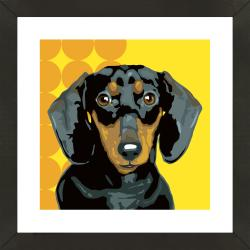 Framed Dachshund Giclee Print Photo