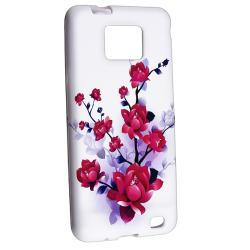 Flower TPU Case/ Screen Protector for Samsung Galaxy S II i9100