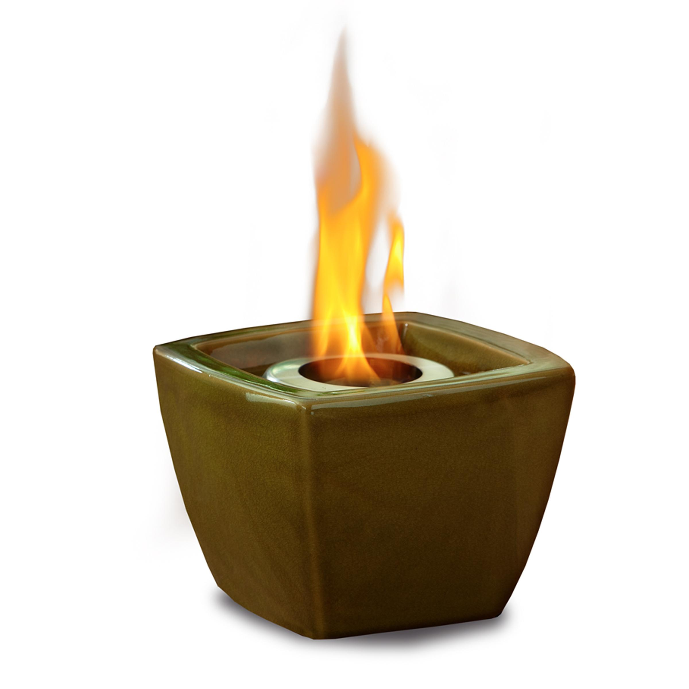 Real Flame Ceramic Fire Pot Green