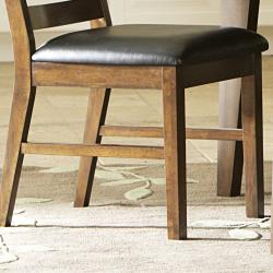 Stotfold Rich Dark Brown Arts and Crafts Dining Chair (Set of 2)