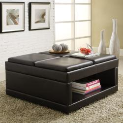 St Ives Cocktail Ottoman Table with Flip Tray