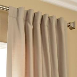 Cobblestone Cotenza Faux Cotton Curtain Panel