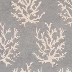 Somerset Bay Hand-tufted Bacelot Bay Grey Beach Inspired Wool Rug (3'3 x 5'3)