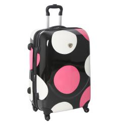 International Traveller Pink Shiny Large Dots 19-inch Hardside Carry-on Spinner Upright