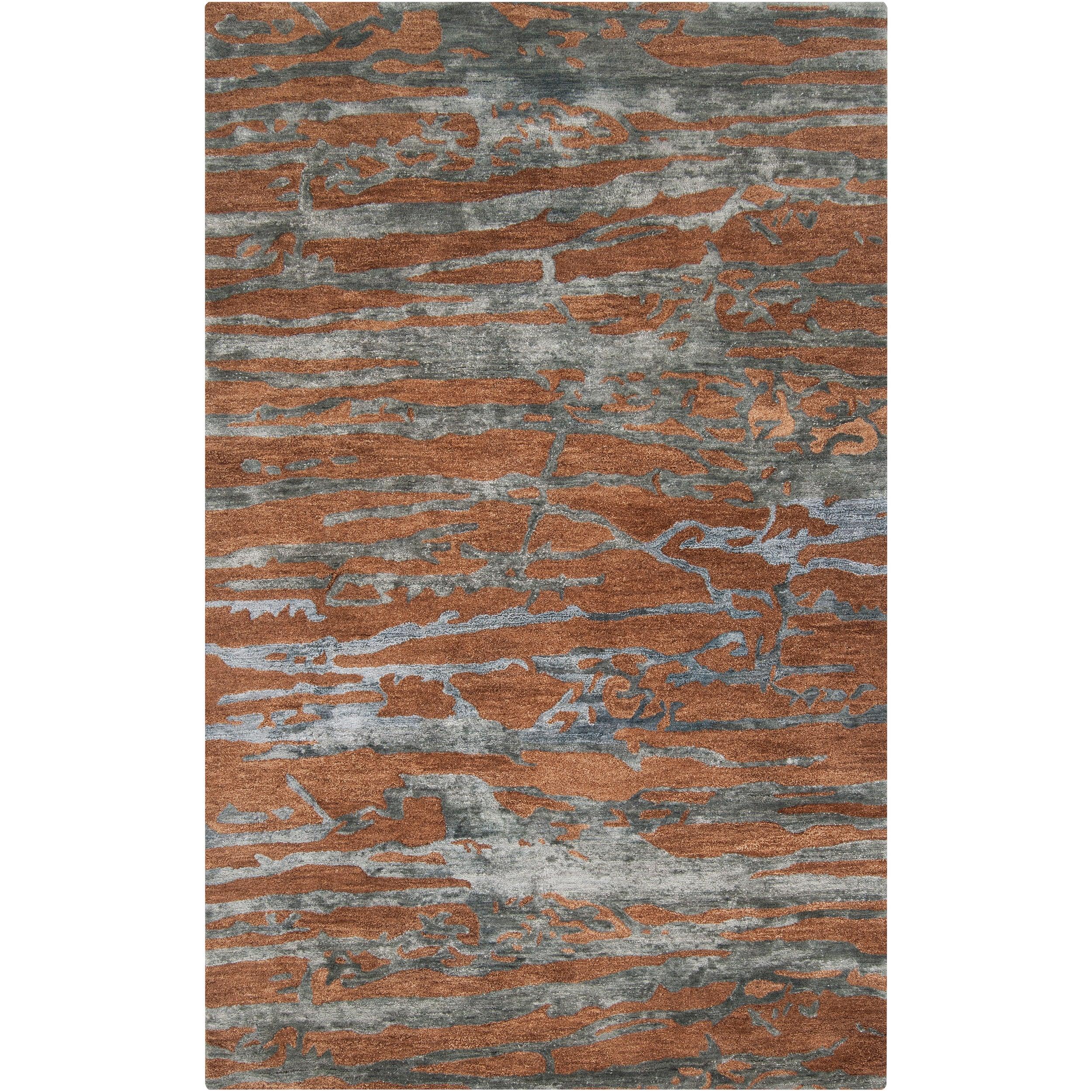 Hand-tufted Brown Caparo Street Abstract Wool Rug (3'3 x 5'3)