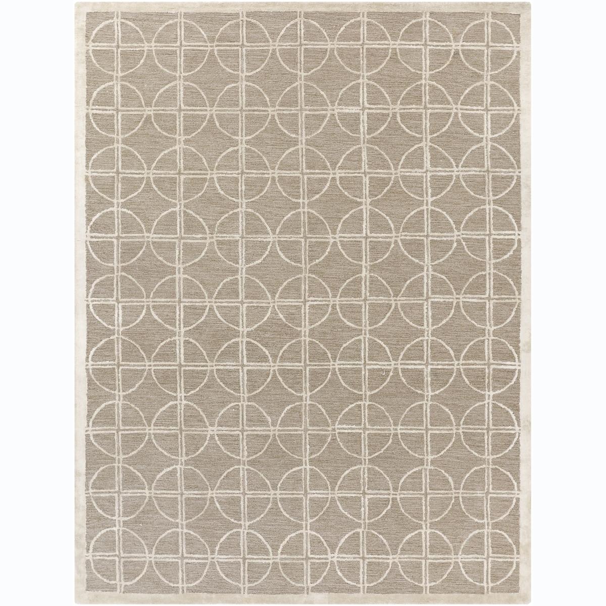 Hand-tufted Mandara Beige Wool Blend Rug (7'9 x 10'6)
