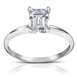 14k White Gold 1ct TDW Diamond Solitaire Engagement Ring (H-I, SI1-SI2)