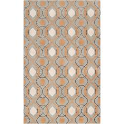Candice Olson Hand-tufted 'Cane' Gray Moroccan Tile Pattern Wool Rug (9' x 13')