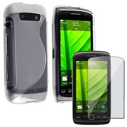 White TPU Case/ Screen Protector for Blackberry Torch 9850/ 9860/ 9570
