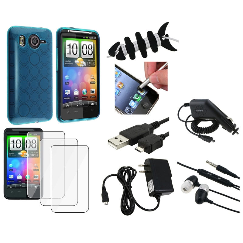 Case/ LCD Protector/ Headset/ Cable/ Chargers for HTC Desire HD/ Ace