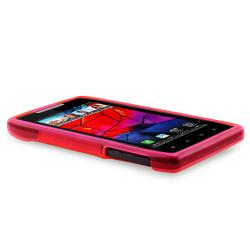 Pink TPU Case/ Screen Protector for Motorola Droid Razr XT910/ XT912