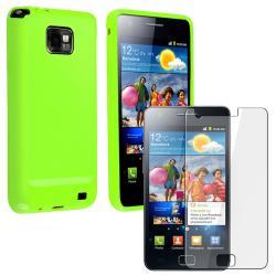 Green TPU Case/ Screen Protector for Samsung Galaxy S II i9100