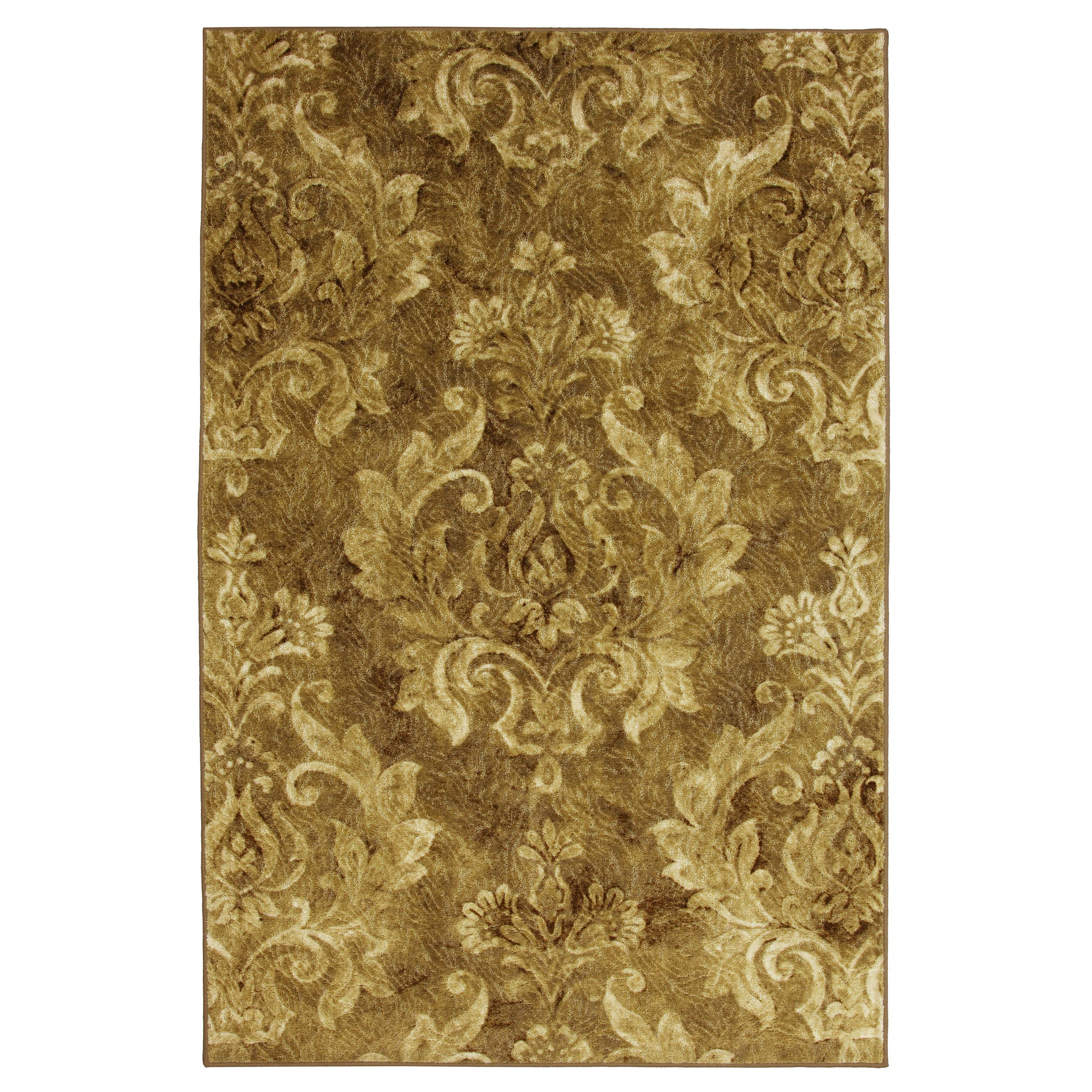 Antique Gold Damask Rug (5' X 8')