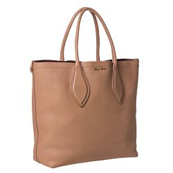 Miu Miu Large Peach Leather Tote Bag