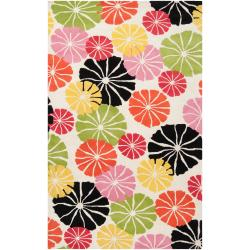 Tepper Jackson Hand-Tufted Contemporary Abstract Multicolored Floral Dreamscape Wool Rug (3'3