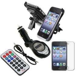 Screen Protector/ Car Phone Holder/ FM transmitter for Apple iPhone 3G